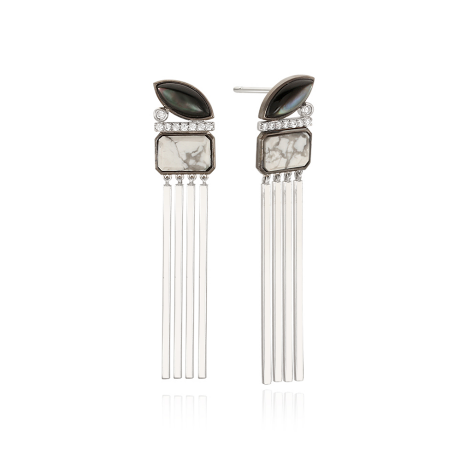 INDI SILVER EARRINGS