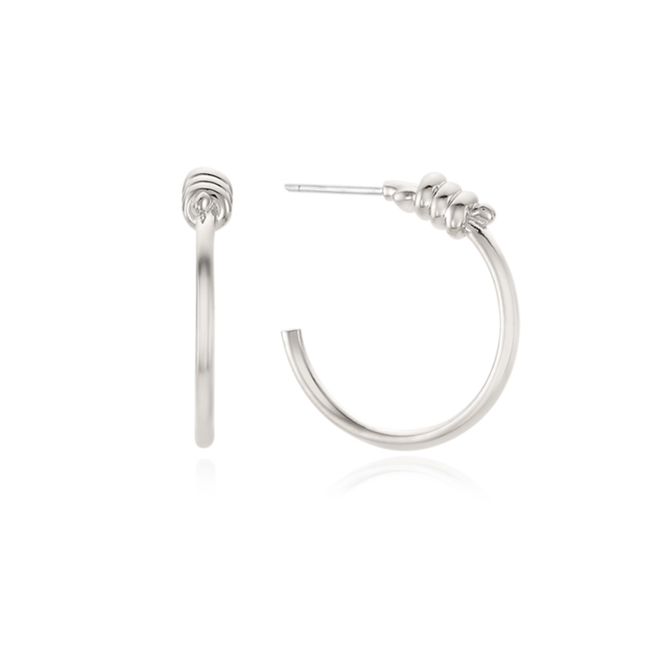 NECT HOOP EARRINGS SILVER