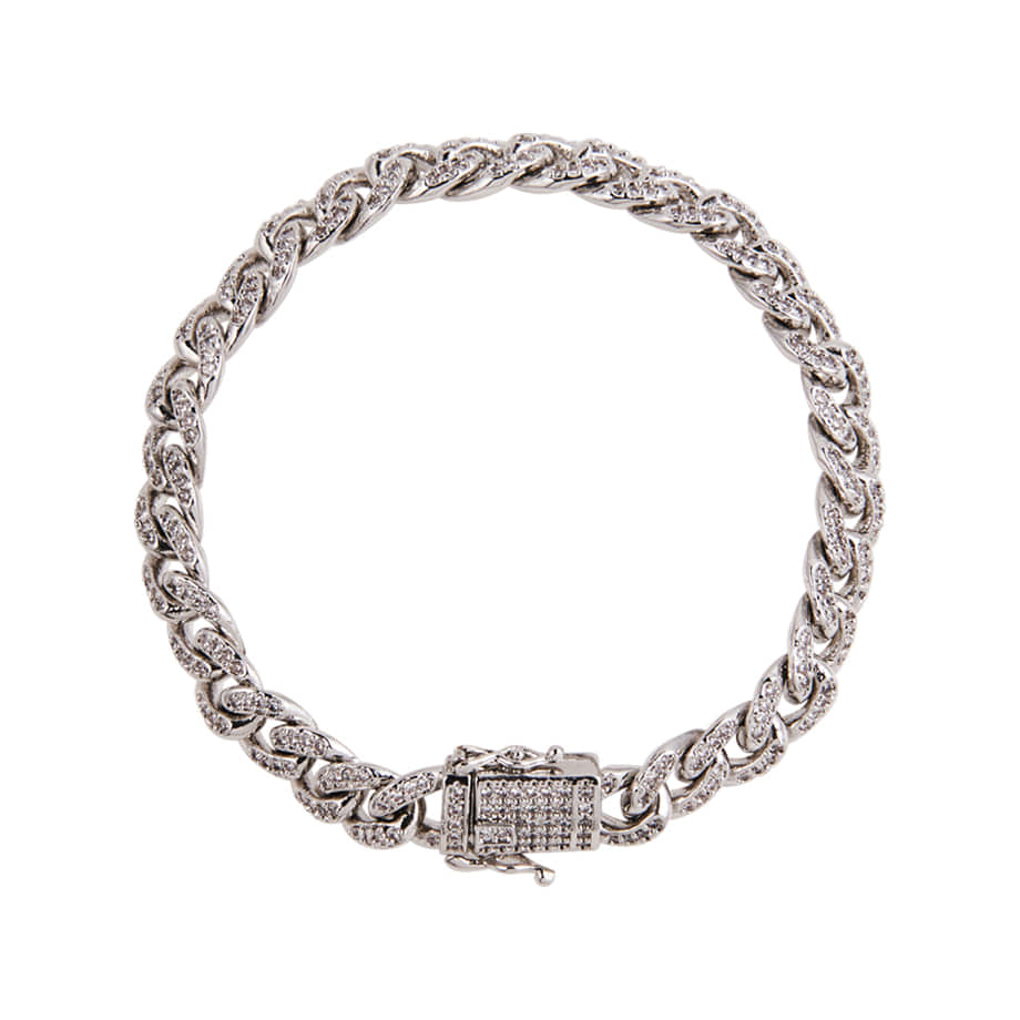 SHOWY SMALL PAVE BRACELET