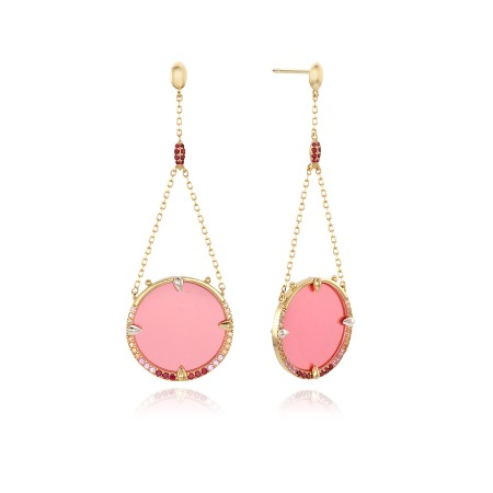 [조보아 착용] Full Moon Earrings - Pink