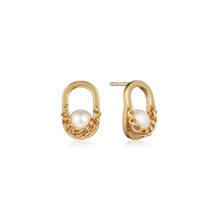 [10/12부터 순차배송]PLEASANT DOUBLE EARRINGS (Pearl)